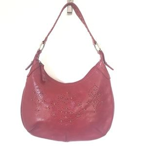 Kenneth Cole Red Leather Hobo